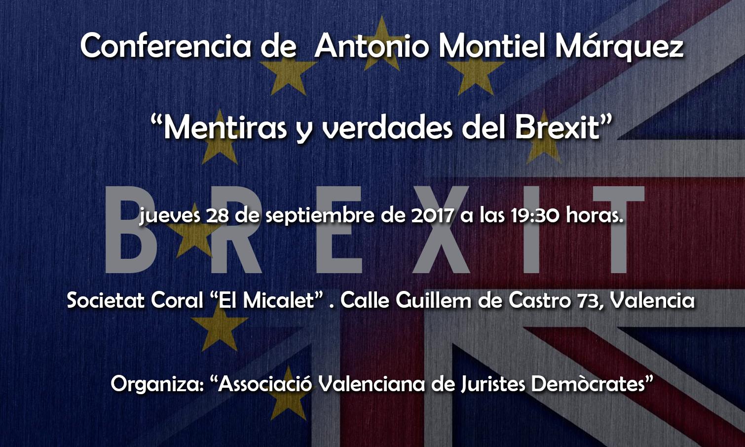 Conferencia de  Antonio Montiel Márquez