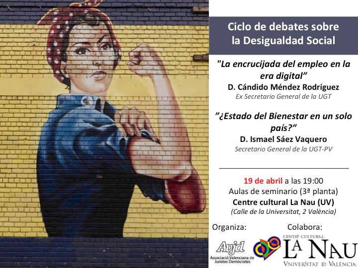 Conferencia y cena Candido Mendez e Ismael Saez. Jueves 19 abril