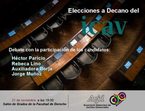 Elecciones a Decano del icav